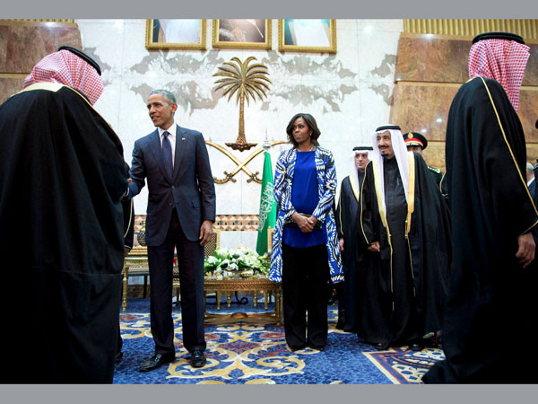 Mrs Obama knows now how Saudi women live