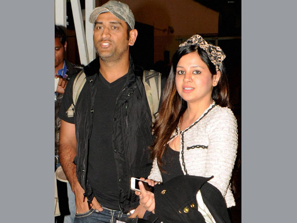 File photo of Dhoni and Sakshi