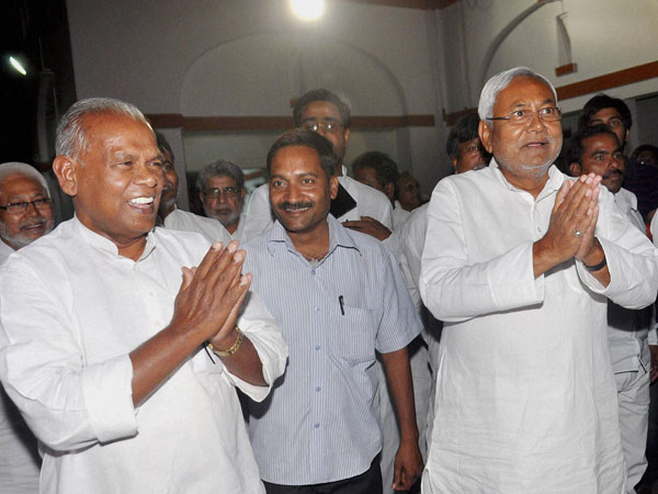 Jitan leaves Nitish's house with a smile