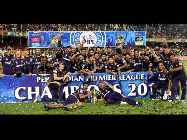 File photo: KKR celebrating title win last year