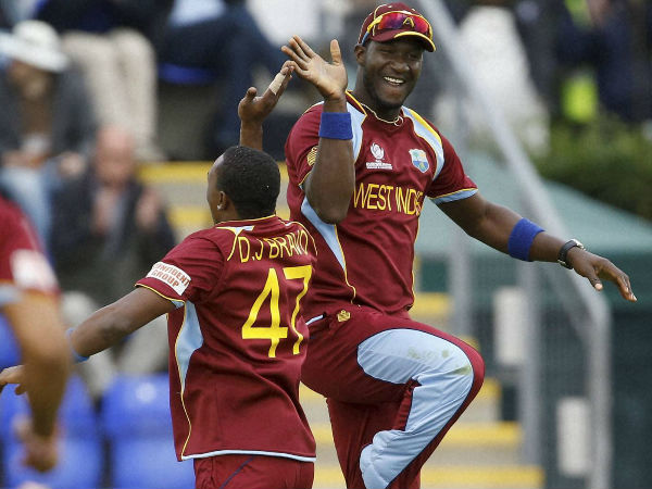 File photo of Darren Sammy (right)