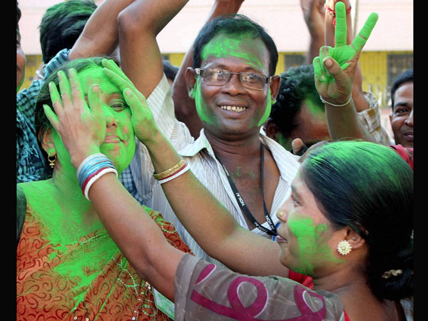 Trinamool Congress celebration