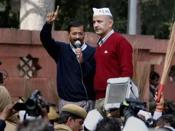 Manish Sisodia with Arvind Kejriwal