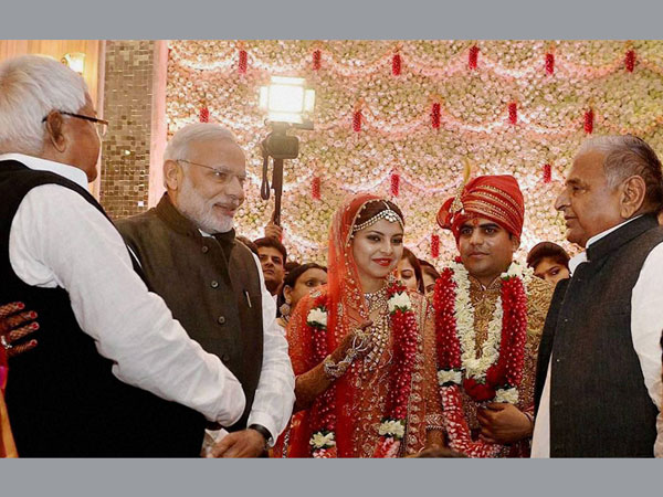 When PM Modi shook hands with Nitish Kumar: A rare photo op at wedding reception of Lalu's daughter.