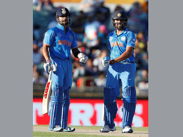 Kohli and Rohit during their partnership