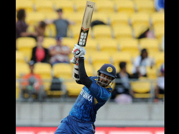 Lahiru Thirimanne plays a shot on way to his hundred