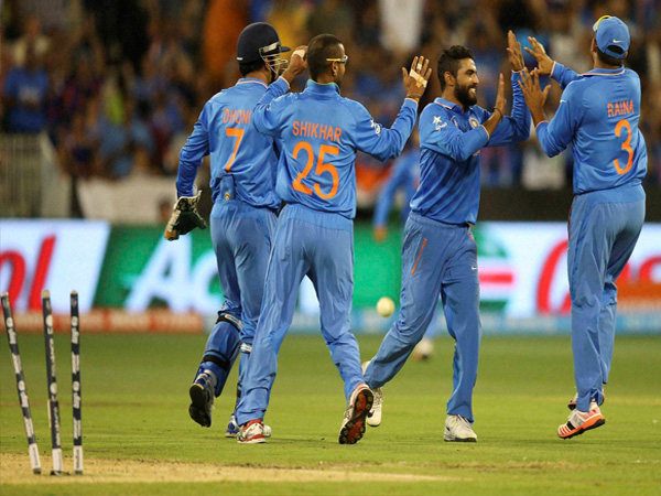 Indian players celebrating during World Cup 2015