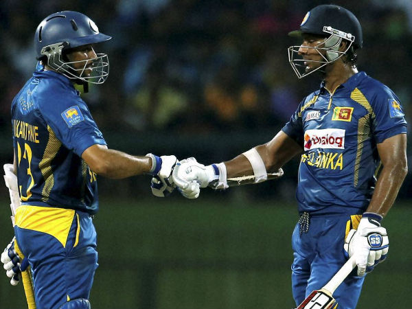 Sangakkara (right) with Dilshan
