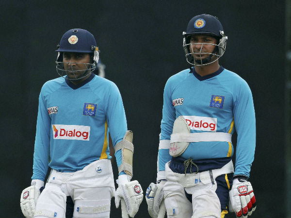 Sangakkara with Mahela Jayawardene
