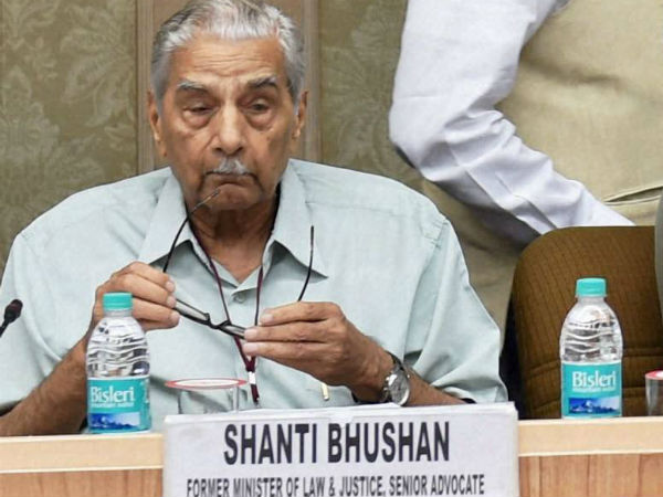 Shanti Bhushan denies meeting dissidents