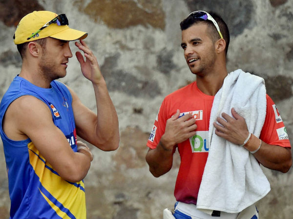 File picture of JP Duminy (right)