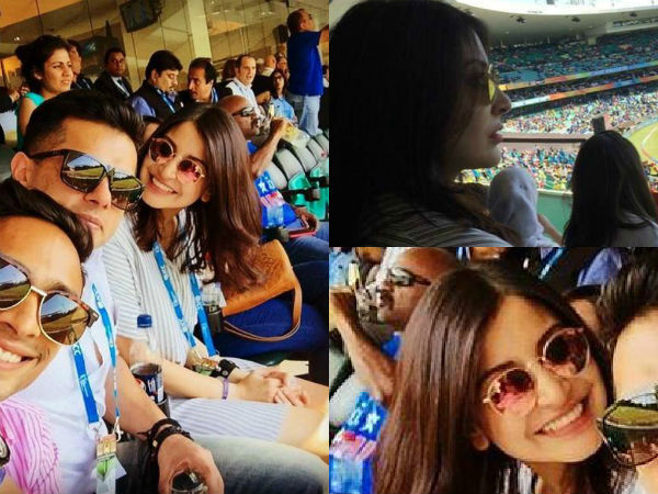 Anushka Sharma's reaction before Kohli's wicket