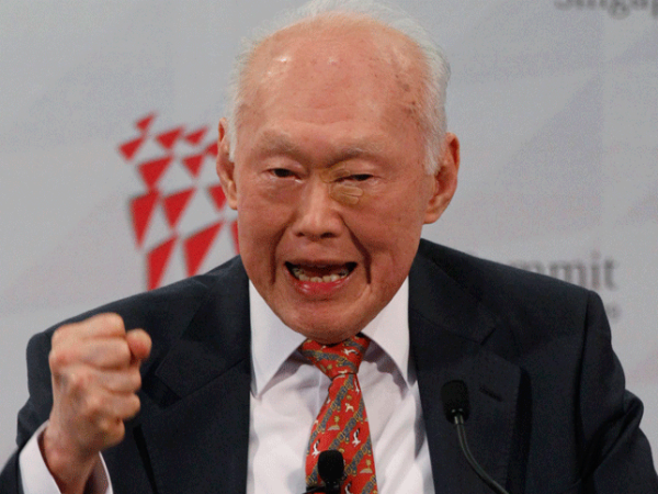 former Prime Minister of Singapore Lee Kuan Yew