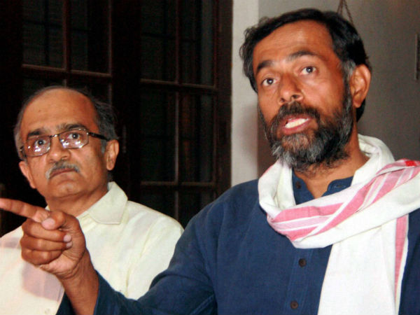 247 members supported ousting Yadav, Bhushan: AAP.