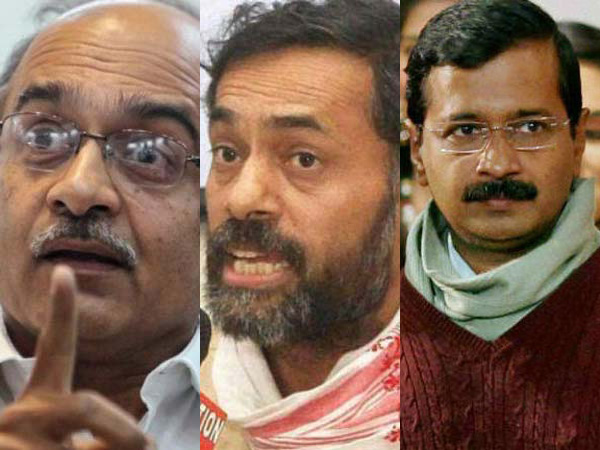 AAP face-off: Kejriwal threatened to quit if Bhushan-Yadav were not removed.