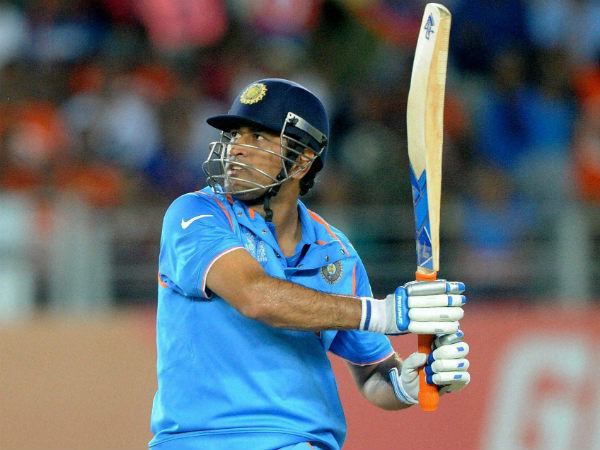 The winning 6 - Dhoni hits a six to win the game for India in his 400th international appearance