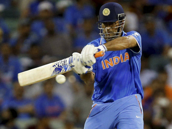 Dhoni in action at World Cup 2015