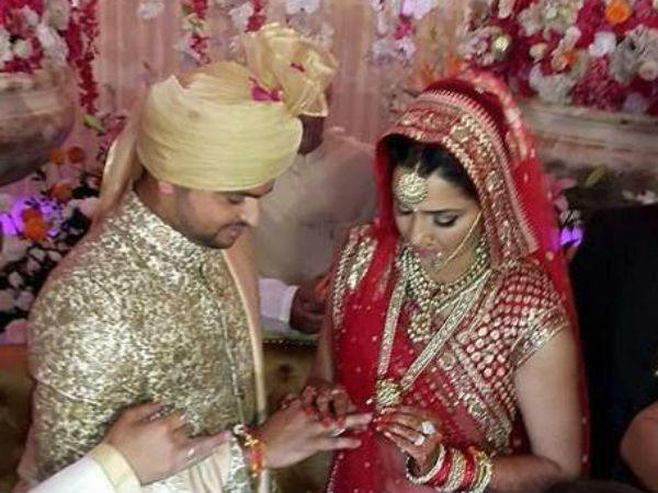 Raina and Priyanka during 'ring ceremony'