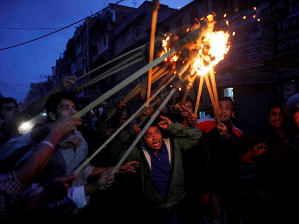Demonstrators take out rally in Nepal