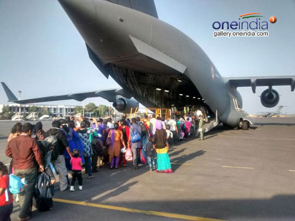 Indians evacuated from Yemen