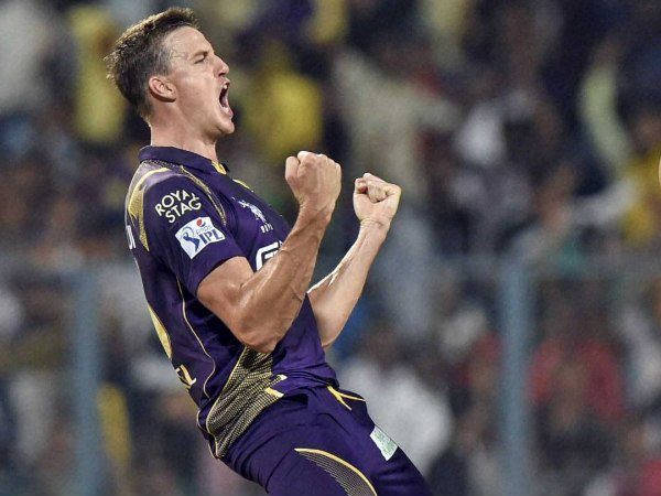 Kolkata Knight Riders' Morne Morkel celebrates a wicket against Mumbai Indians in IPL 2015 opener
