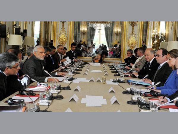 India, France ink 17 agreements