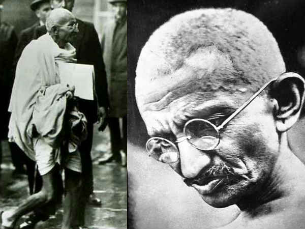 Man held for vandalising Gandhi statue