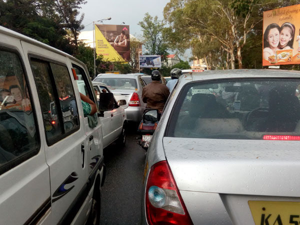 Traffic movement disrupted