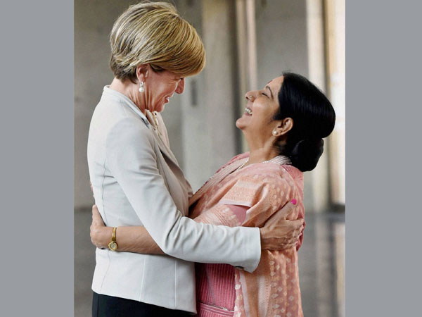 Sushma Swaraj meets Aus Foreign Minister