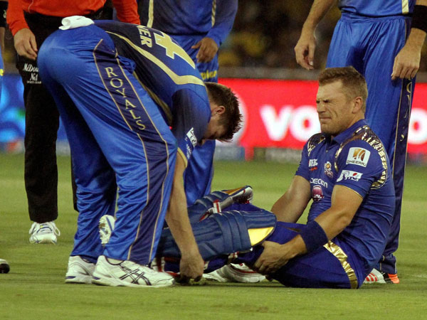 Finch is injured against Rajasthan at IPL 2015