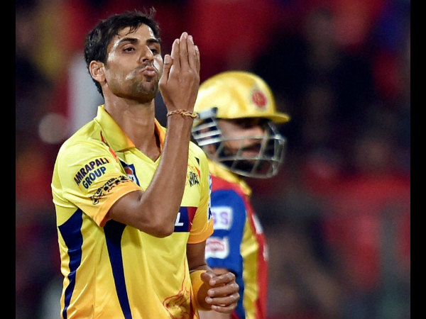 Ashish Nehra celebrates after removing Rilee Rossouw (not in picture)