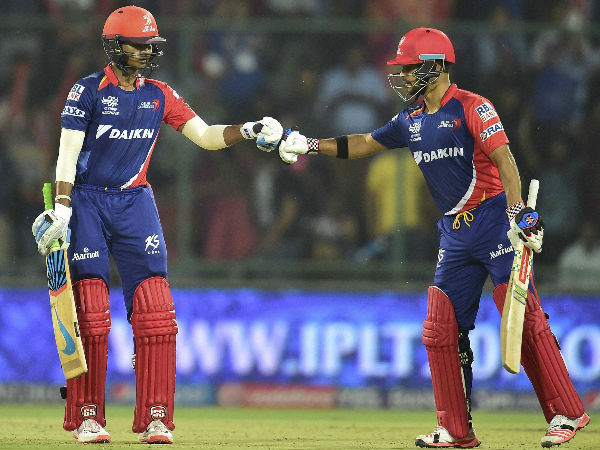 Shreyas (left) and Duminy during their partnership against MI