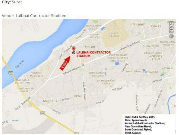 Surat - Fan Park venue map