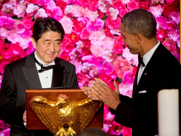 Obama, Abe pledge Pacific Rim trade pact