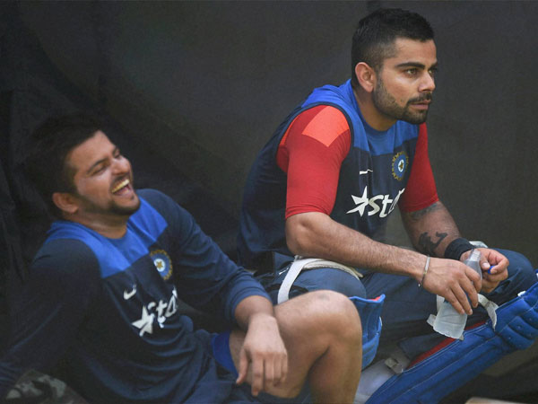 Suresh Raina and Virat Kohli in a jovial mood