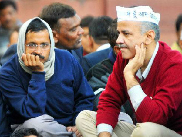 Arvind Kejriwal with Manish Sisodia