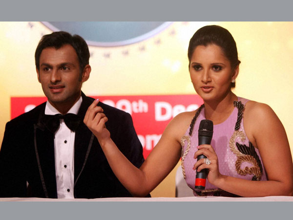 File photo of Shoaib and Sania