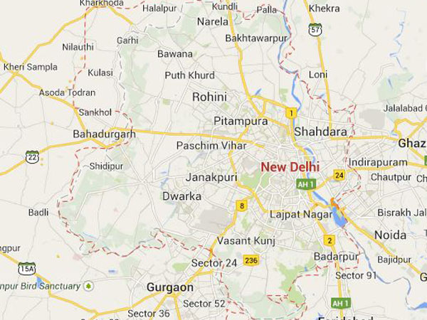 new delhi-map