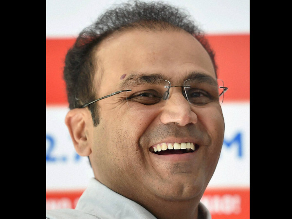 Bespectacled Virender Sehwag