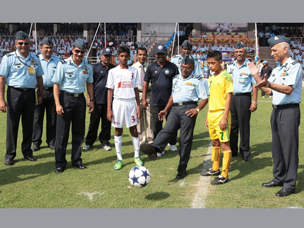 AOA inaugurating the Subroto Cup- Internation football tournament 2014