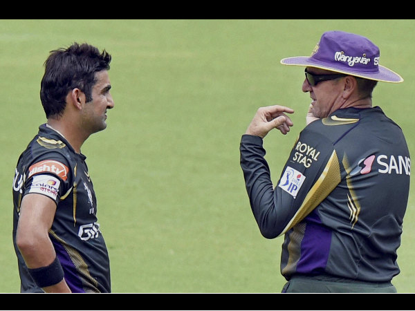 File photo: Bayliss (right) with KKR captain Gautam Gambhir