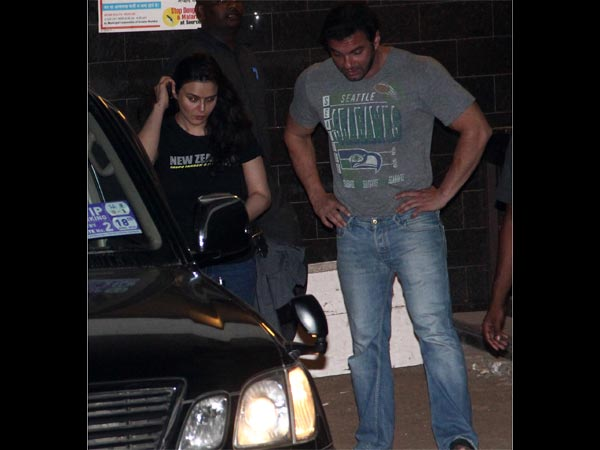Preity Zinta at Salman Khan's residence