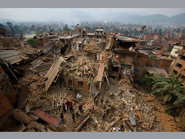 Shared image of Nepal quake an old pic