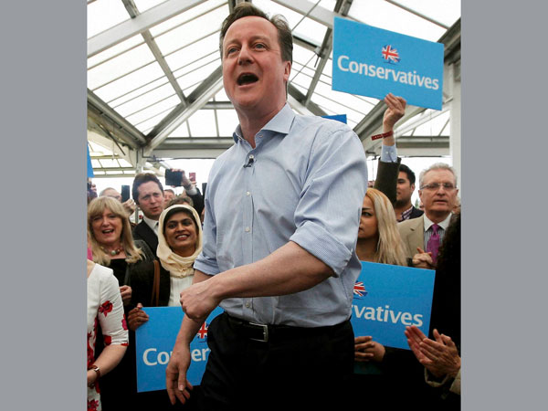 UK exit polls: Cameron close to majority