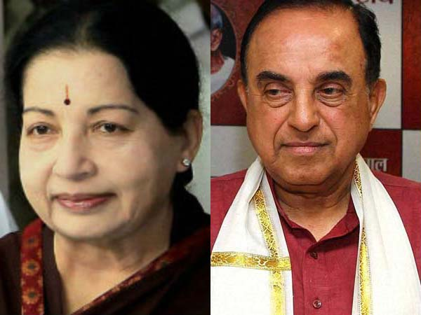 Jayalalithaa and Subramanian Swamy