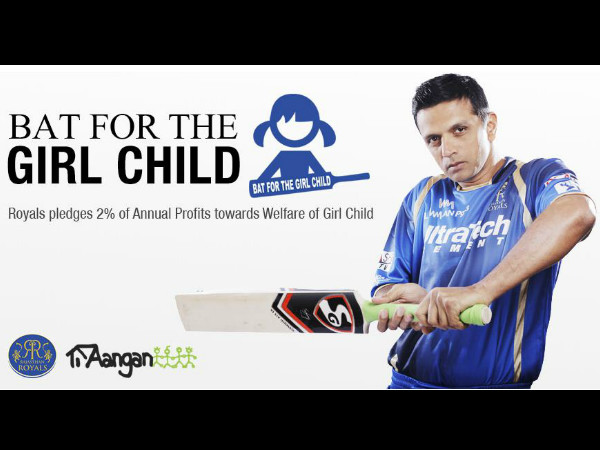 Rahul Dravid bats for the girl child