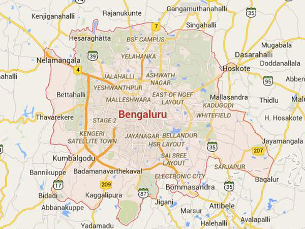 Lake in Bengaluru catches fire
