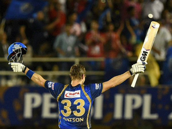 Shane Watson hit a century in the last match