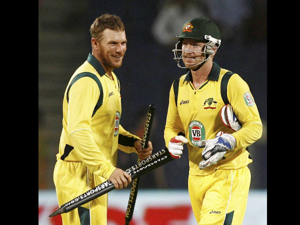 File photo of Haddin (right) with teammate Aaron Finch during a ODI