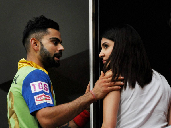 Anushka and Virat during IPL match in Bengaluru